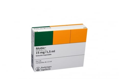 Mobic 15 mg / 1.5 mL Caja Con 3 Ampollas Con 1.5 mL Rx