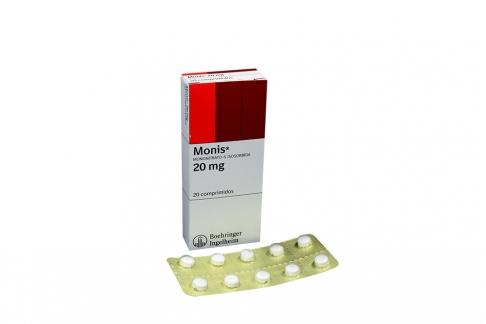 Monis 20 mg Caja Con 20 Comprimidos Rx
