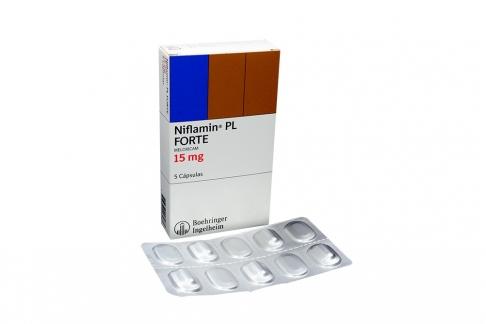 Niflamin PL Forte 15 mg Caja Con 5 Cápsulas Rx