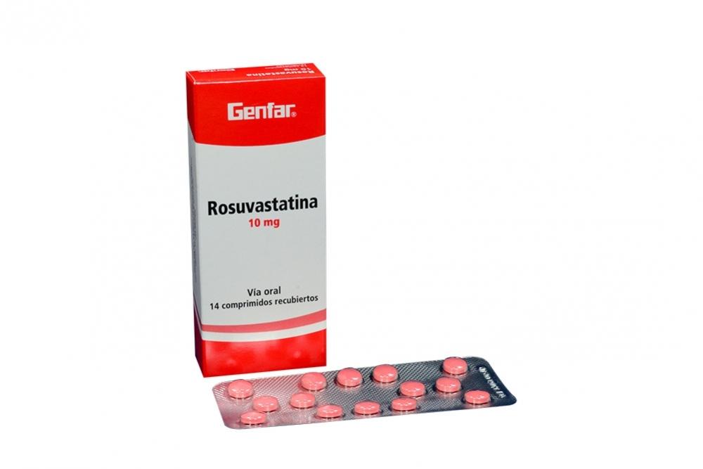 Rosuvastatina 10 mg Caja Con 14 Tabletas Recubiertas Rx4