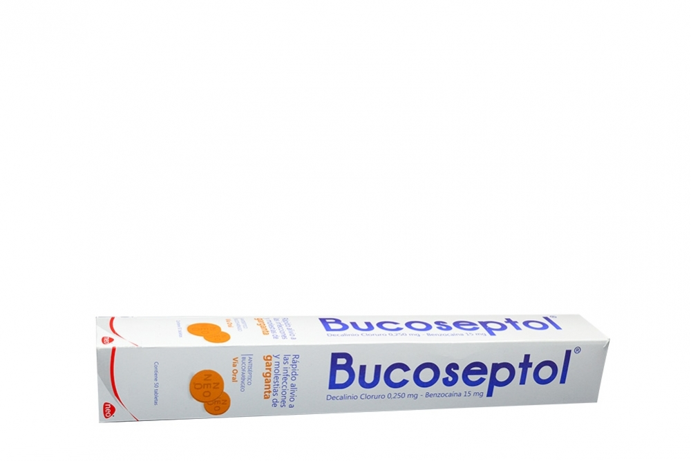 Bucoseptol 0.250mg / 15mg Caja Con 50 Tabletas