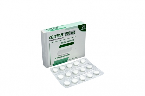 Colypan 200 mg Caja Con 30 Tabletas Recubiertas Rx