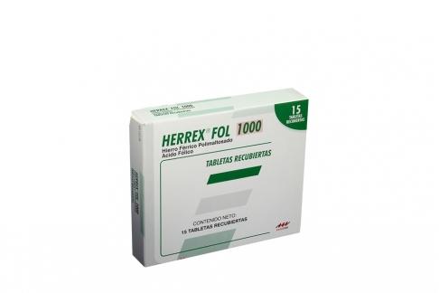 Herrex Fol 1000 mg Caja Con 15 Tabletas Recubiertas Rx4