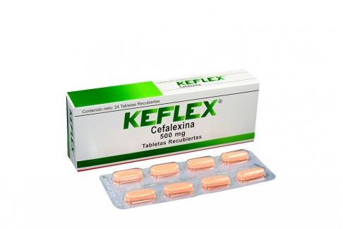 Keflex 500 mg Caja Con 24 Tabletas Recubiertas Rx2