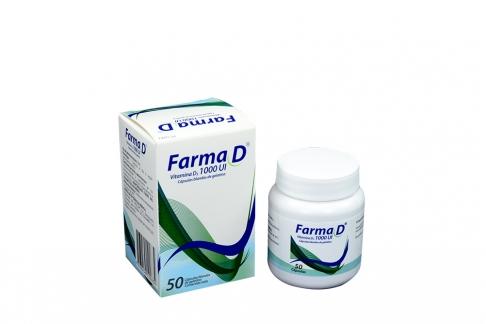 Farma D 1000 UI Caja Con Frasco Con 50 Cápsulas Rx