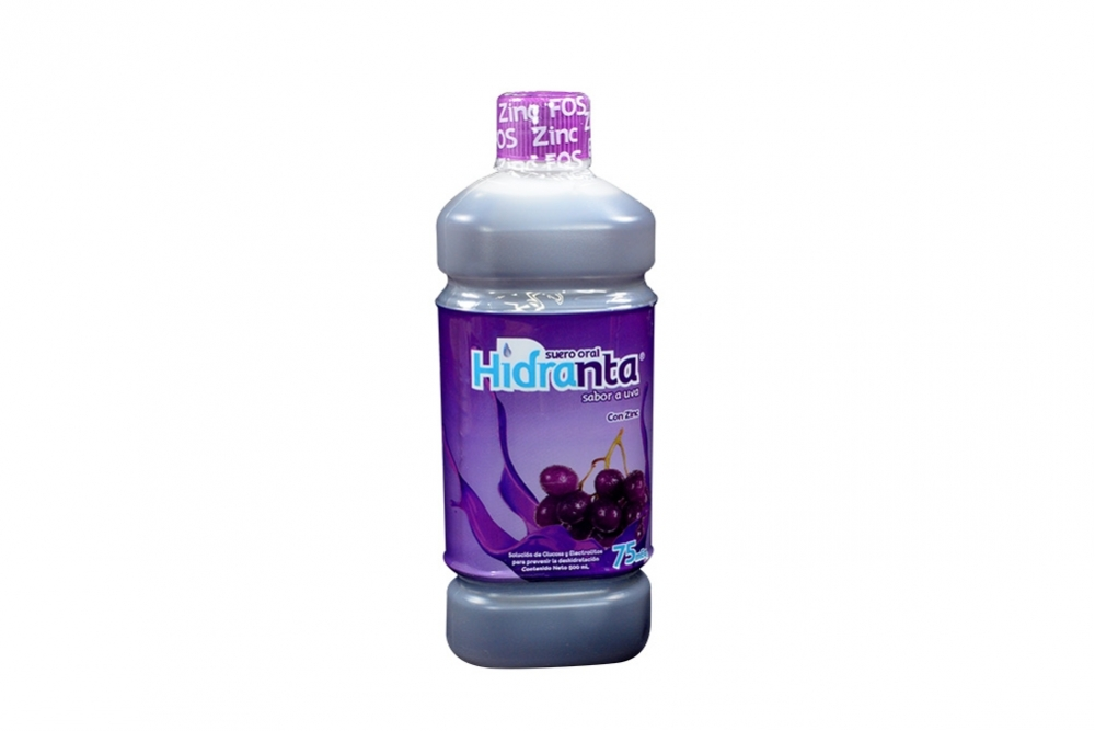 Hidranta 75 Meq Suero Oral Frasco Con 500 mL - Sabor Uva