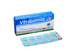 Verapamilo 80 mg Caja Con 30 Tabletas Rx
