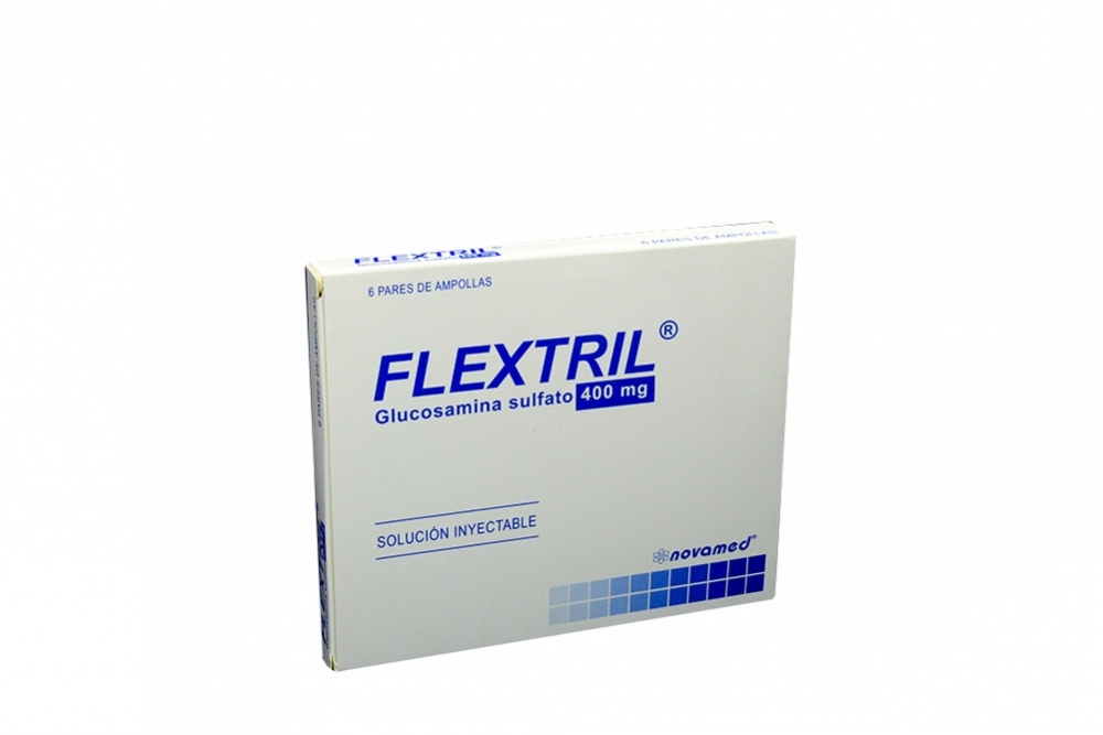 Flextril 400 Mg Inyectable X 6 Pares De Ampollas Rx