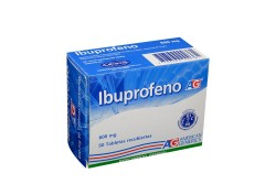 Ibuprofeno 600 mg Caja x 50 Tabletas Recubiertas Rx