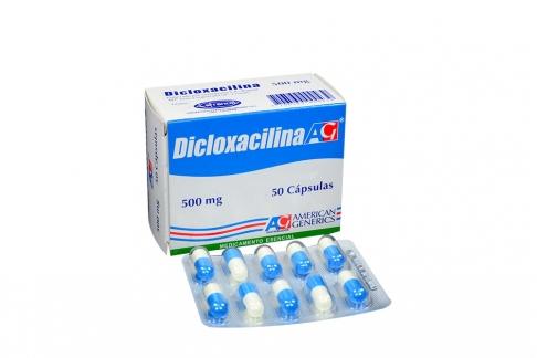 Dicloxacilina 500 mg Caja Con 50 Cápsulas Rx2
