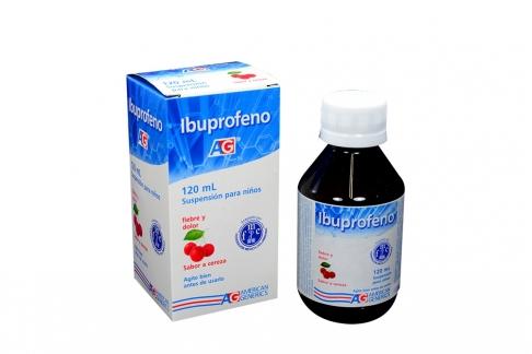 Ibuprofeno Suspensión Para Niños Caja Con Frasco Con 120 mL – Sabor Cereza