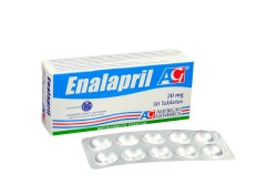 Enalapril 20 mg Caja Con 30 Tabletas Rx4