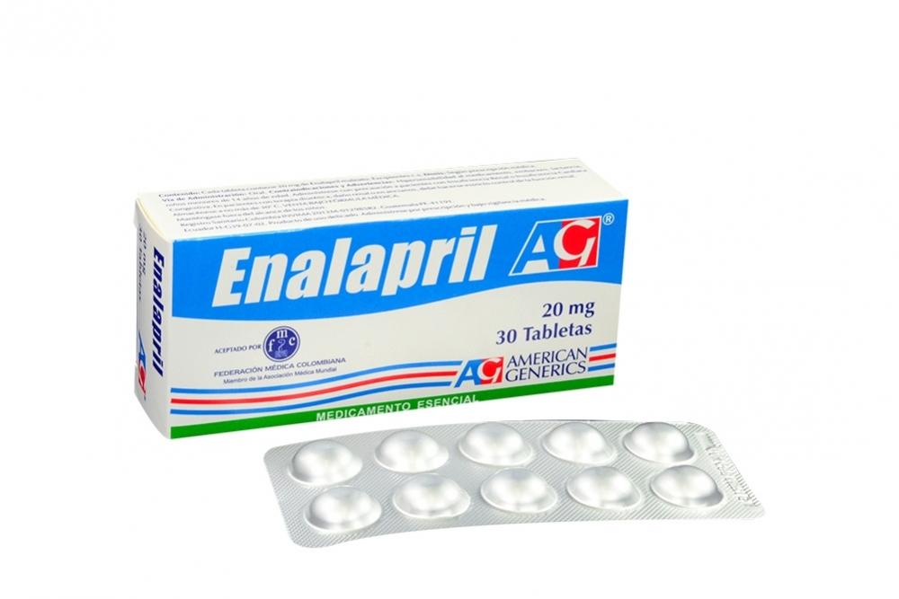 9ce73a5ff5 Comprar Enalapril 20 mg Caja Con 30 Tabletas Farmalisto Colombia