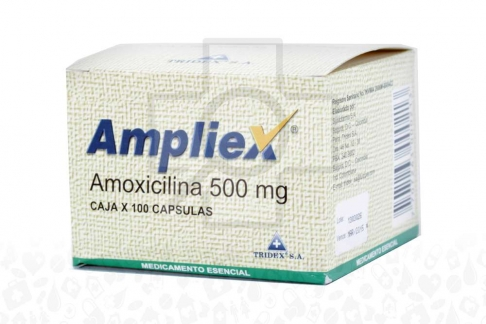 Ampliex Amoxicilina 500 mg Caja Con 100 Cápsulas Rx2