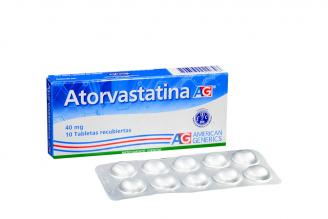 Atorvastatina 40 mg Caja Con 10 Tabletas Recubiertas Rx