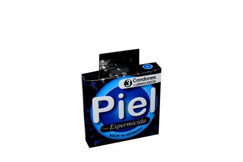 Condones Piel Con Espermicida Caja Con 3 Unidades