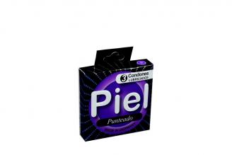 Condones Piel Punteado Caja Con 3 Unidades