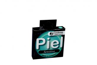 Condones Piel Sensitivo Caja Con 3 Unidades