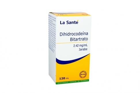 Dihidrocodeína Bitartrato Jarabe Caja Con Frasco x 120 mL  Rx