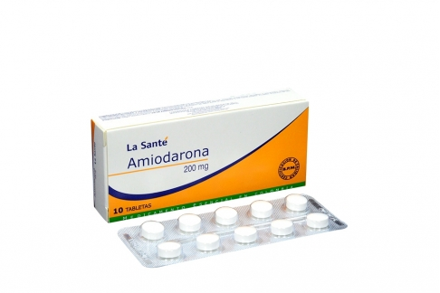 Amiodarona 200 Mg Caja Con 10 Tabletas RX