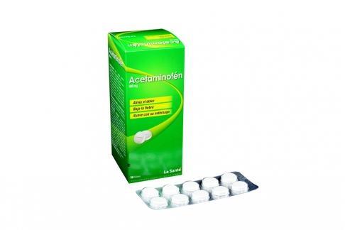 Acetaminofén 500 mg La Santé Caja Con 100 Tabletas