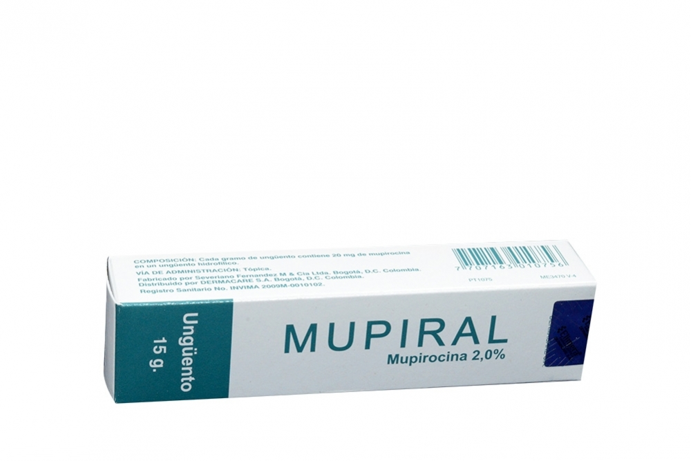 Mupiral Ungúento 2% Caja Con Tubo x 15 g Rx