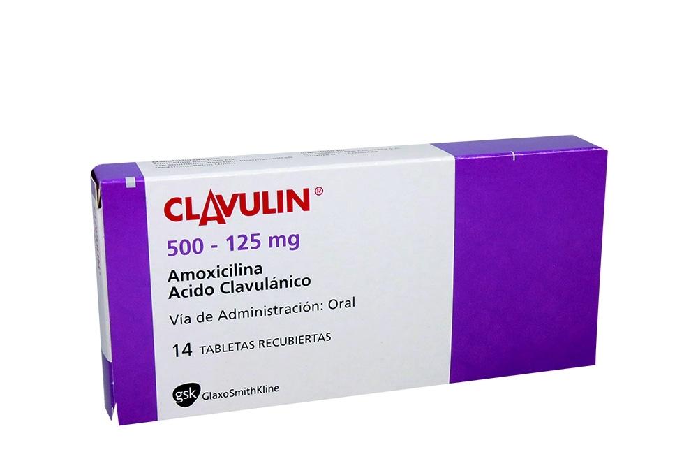 Clavulin 500 / 125 mg Caja Con 14 Tabletas Recubiertas Rx2