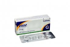 Esoz 20 mg Caja Con 14 Tabletas Recubiertas Rx