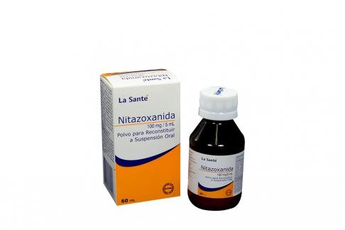Nitrazoxanida 100 mg / 5 mL Caja Con Frasco Con 60 mL Rx