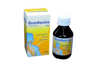 Bromhexina Jarabe 8 mh / 5 mL Caja Con Frasco Con 120 mL