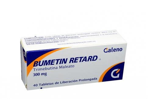 Bumetin Retard 300 mg Caja Con 40 Tabletas De Liberación Prolongada Rx
