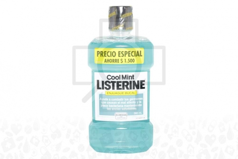 Listerine Cool Mint Frasco X 360 mL