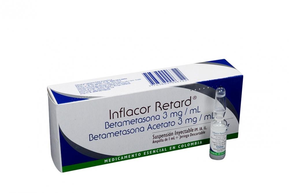 Inflacor Retard 3 mg / mL Caja Con 1 Ampolla Con 1 mL Rx
