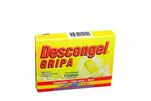 Descongel Gripa Caja Con 10 Cápsulas Blandas de Gelatina