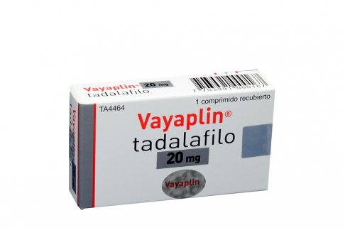 Vayapli Tadalafilo 20 mg Caja Con 1 Comprimido Recubierto Rx