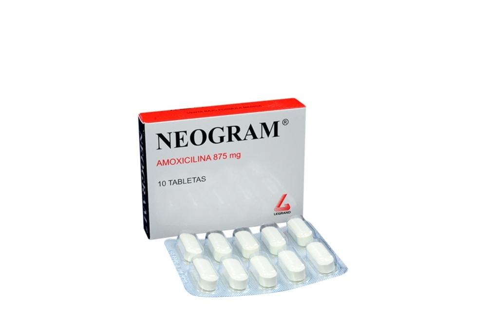 Neogram 875 Mg Caja Con 10 Tabletas Rx2