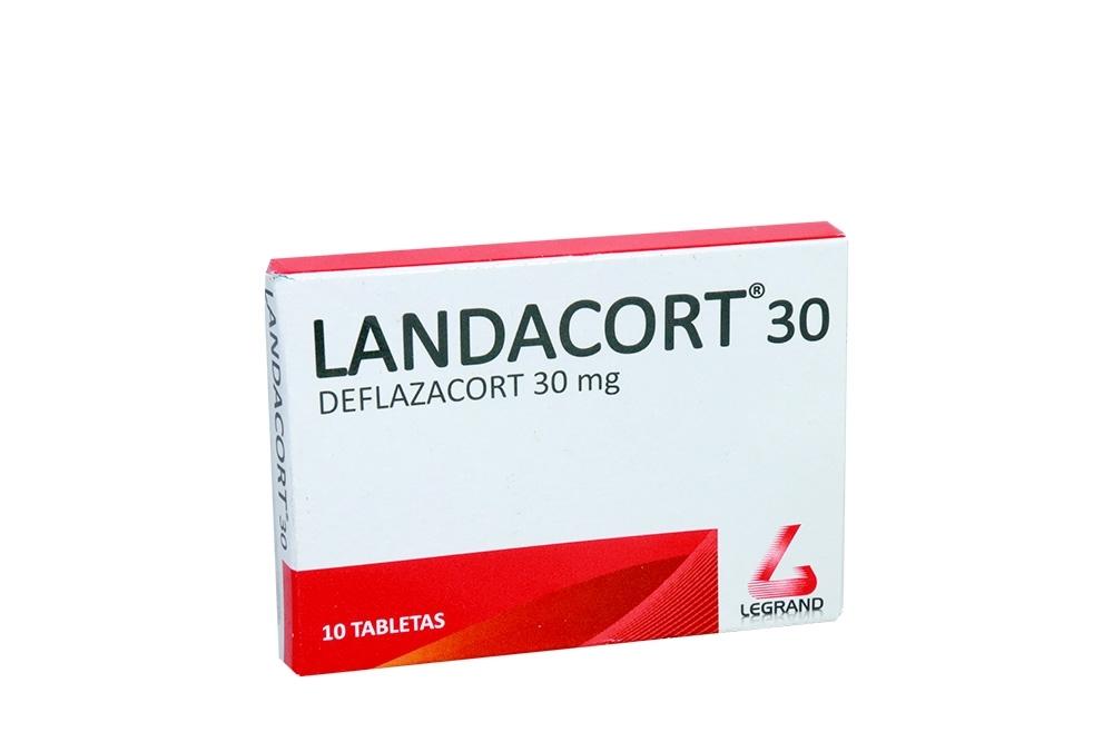 Landacort 30 mg Caja Con 10 Tabletas Rx