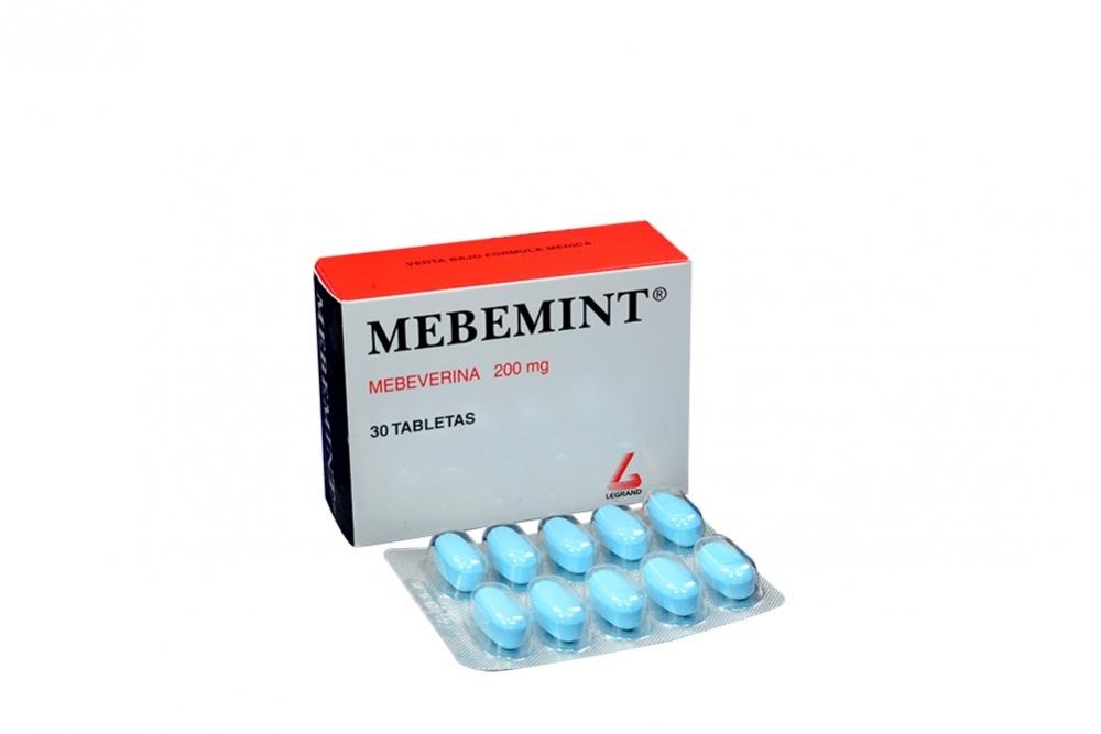 Mebemint 200 mg Caja Con 30 Tabletas Rx