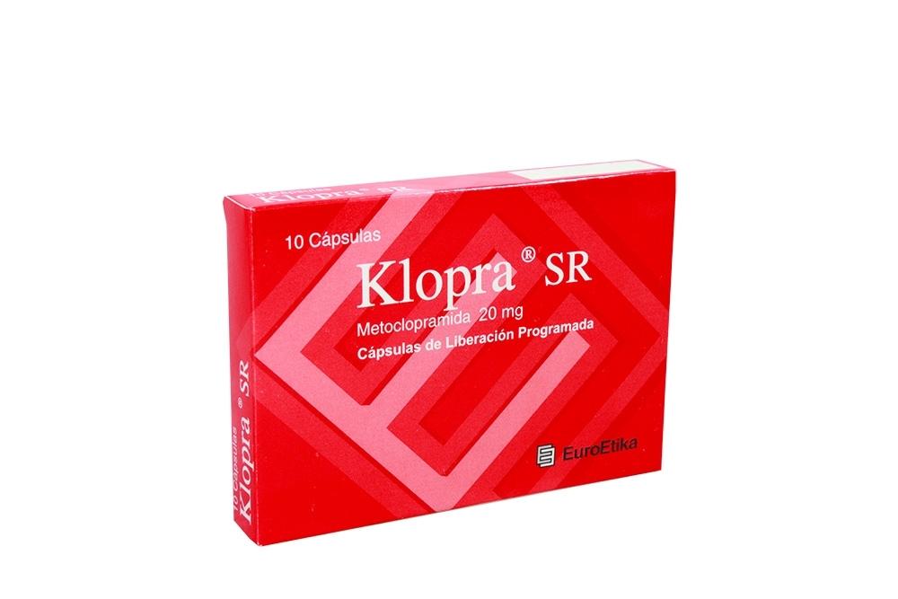 Klopra Sr 20 Mg Caja X 10 Cápsulas RX