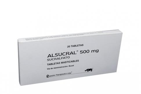 Alsucral 500 mg Caja Con 20 Tabletas Rx