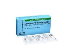 Lidoprocto Supositorios Caja X10 Supositorios Rx