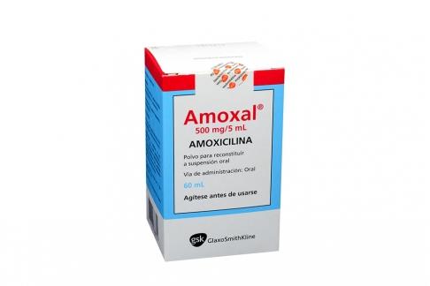 Amoxal 500 mg / 5 mL Caja Con Frasco Con 60 mL Rx2