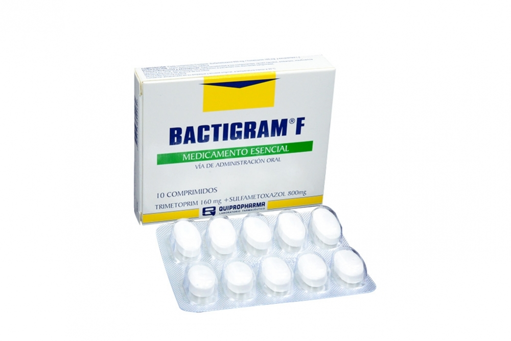 Bactigram F 160 / 800 mg Caja Con 10 Comprimidos Rx2