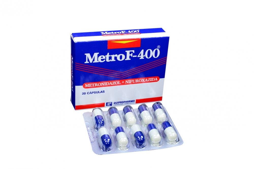 Metro F 400 / 200 mg Caja Con 20 Cápsulas Rx2