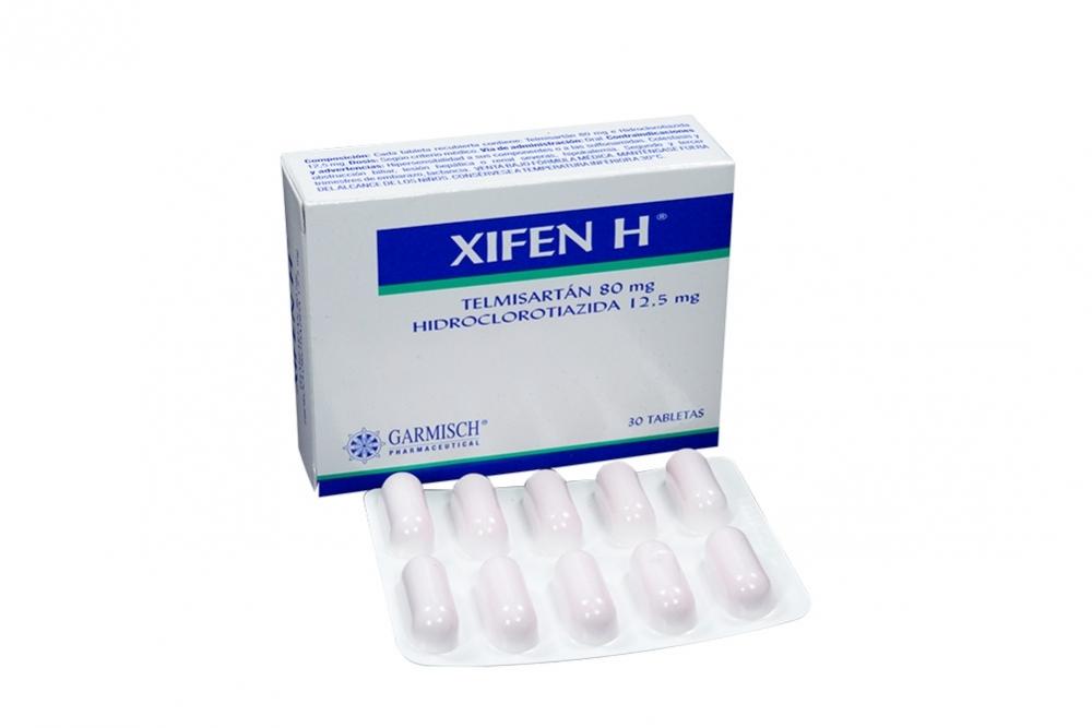 Xifen H 80 / 12.5 mg Caja Con 30 Tabletas Rx4