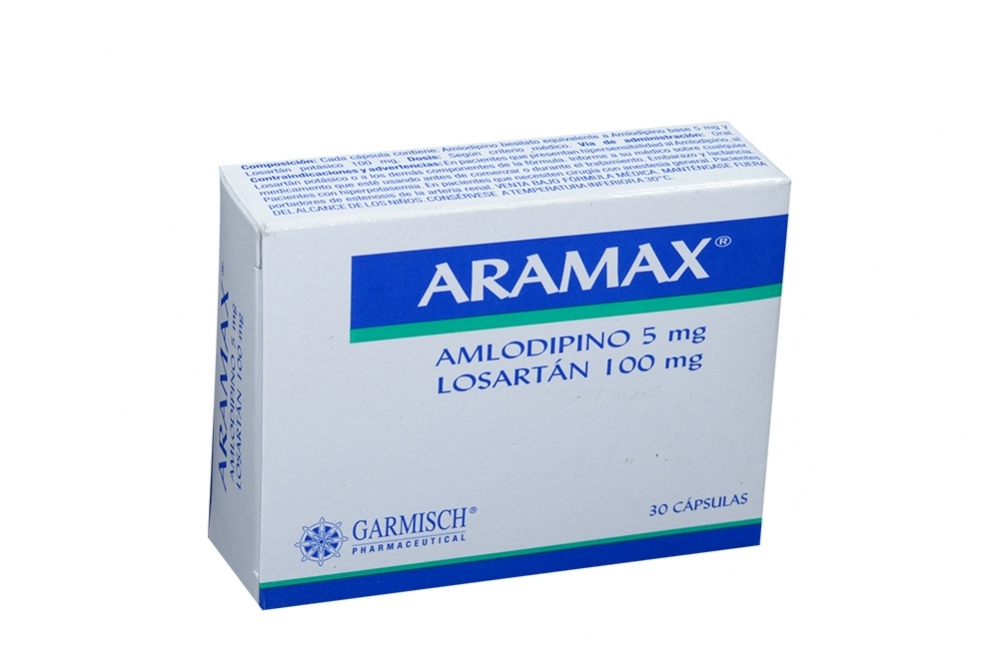 Aramax 5 / 100 mg Caja Con 30 Cápsulas Rx4