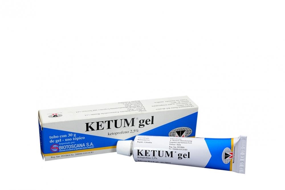 Ketum Gel 2,5% Caja Con Tubo De 30 g