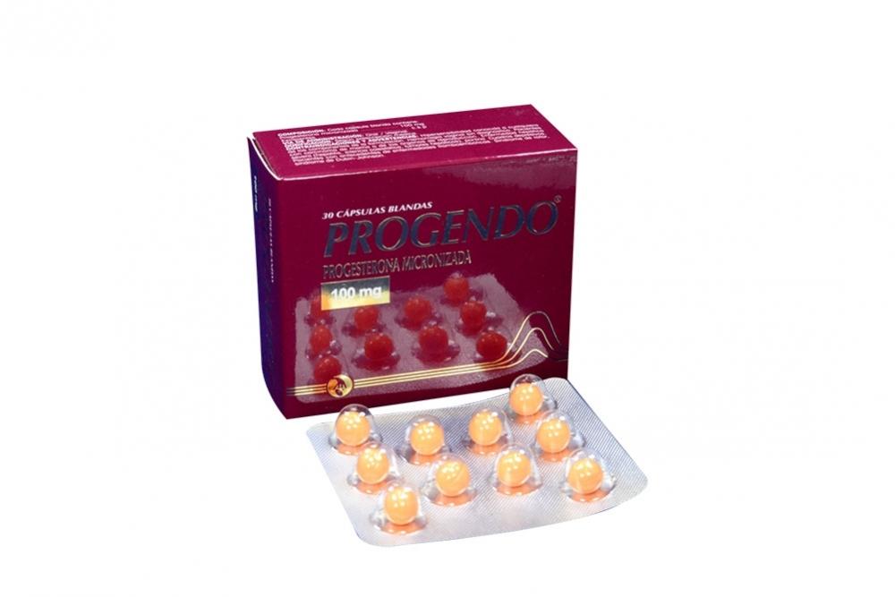 Progendo 100 mg Caja Con 30 Cápsulas Blandas Rx