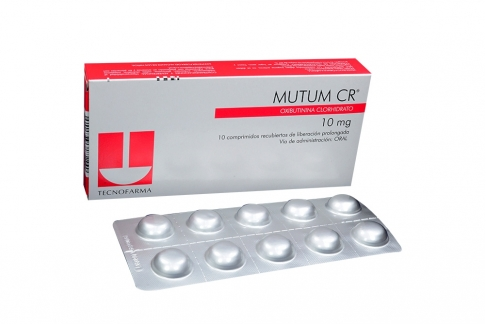 Mutum CR 10 mg Caja Con 10 Comprimidos Rx4
