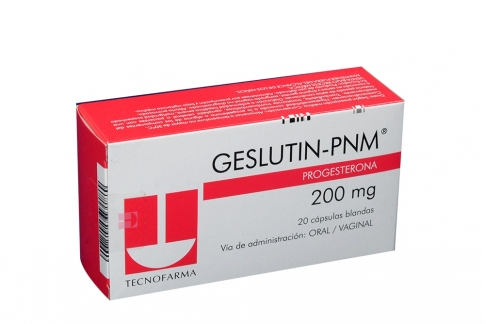 Geslutin PNM 200 mg Caja Con 20 Cápsulas Blandas Rx